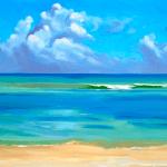"""""""Half Moon Cove"""", oil, by Daphne Wynne Nixon"""