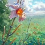 """""""Orchid in the Jamaican Bush"""", 11″ x 14″, oil by Daphne Wynne Nixon,"""