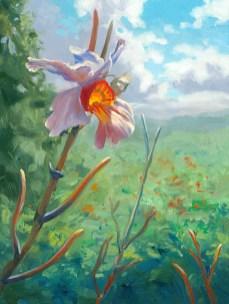 """""""Orchid in the Jamaican Bush"""", 11"""" x 14"""", oil by Daphne Wynne Nixon,"""