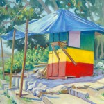 Jamaican Road Side Stand With Blue Tarp low res