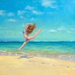 """""""A Day Off"""", oil, by Daphne Wynne Nixon"""