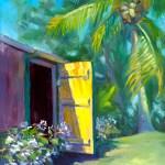 """Behind the Yellow Door"", oil, by Daphne Wynne Nixon"