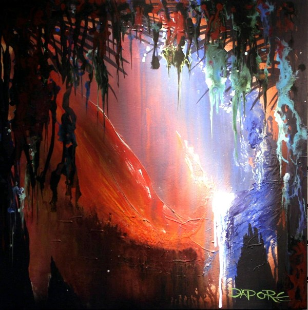 Abstract Art Dapore Landscape Painting