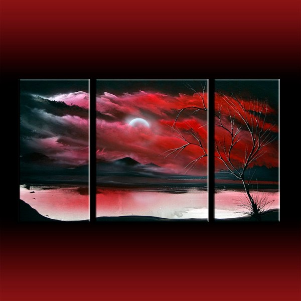 Red Black and White Canvas Art