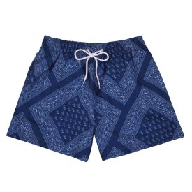 BS04 - BOARDIES® LONG BEACH BANDANA BLUE SHORTIE LENGTH SHORT