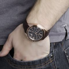 Hugo Boss Chronograph on arm in pocket