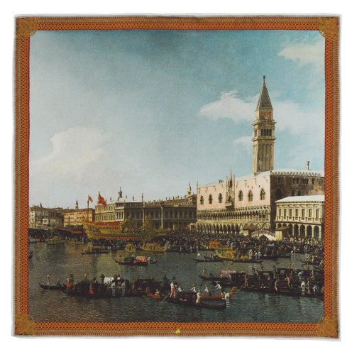 Canaletto-Basin-San-Marco-Pocket-Square