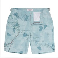 Blue Mapped Shorts