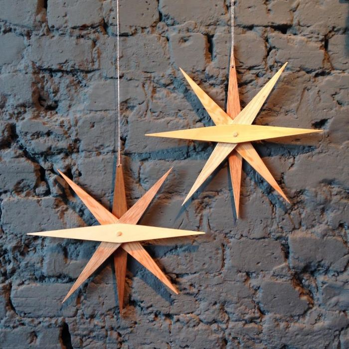 Number8 wooden stars