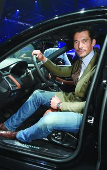 LONDON, ENGLAND - JULY 13: David Gandy attends the all-new Jaguar E-Pace reveal at ExCel on July 13, 2017 in London, England. Jaguar's newest model was launched with an epic barrel roll of 15 metres, 30 centimetres and saw renowned stunt driver Terry Grant set a new world record for the longest barrel roll in a production vehicle. (Photo by David M Benett/Dave Benett/Getty Images for Jaguar) *** Local Caption *** David Gandy