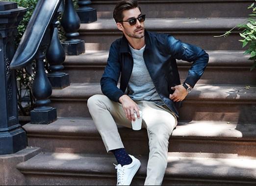 Men's white sneaker Style 1