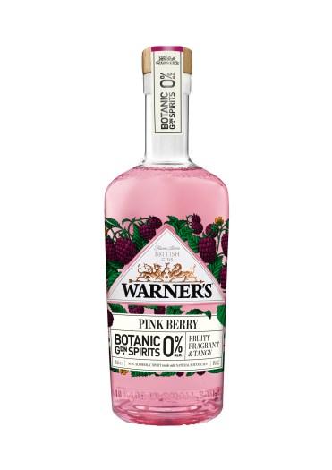 Warner's 0% Botanic Garden Spirits Pink Berry bottle shot