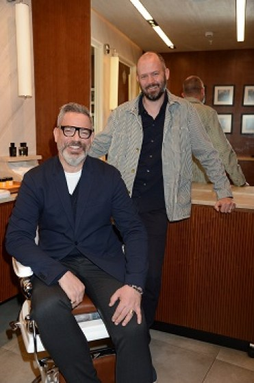 Daniel Marks & Jack Dyson at Acqua di Parma Barbiere (credit Richard Young) 2