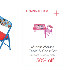 Minnie Table And Chairs Big Tall Office Staples Target 50 Off Mouse Or Paw Patrol Junior Chair Set Cartwheel Offer Valid Today Only As Low 7 49 Reg 24 99 Dapper Deals