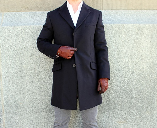 Single Breasted Wool Topcoat