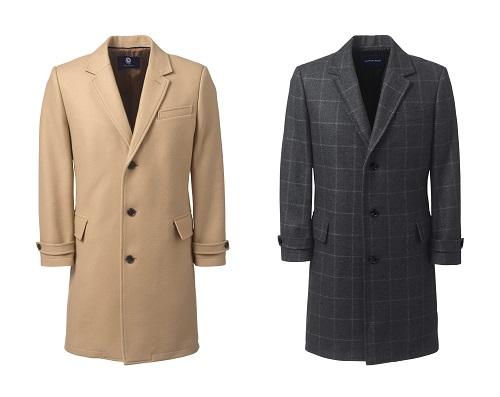 Lands' End Wool Blend Topcoats