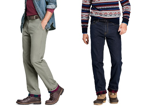 Lands' End Flannel Lined Chinos & Denim