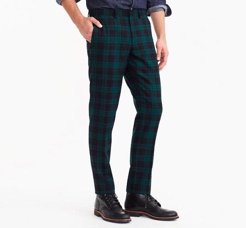 Ludlow Slim-fit Pant in Wool Tartan