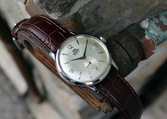 The Orient Bambino Small Seconds Champagne Dial