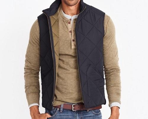 Poly/Cotton Walker Vest in Navy or Black