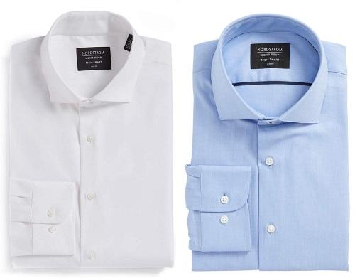 Nordstrom Tech-Smart Trim Fit Stretch Solid Dress Shirt