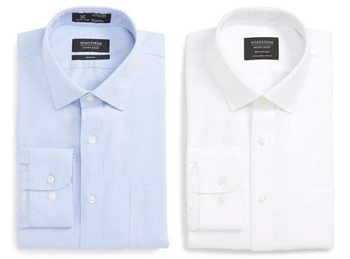 NordstromSmartcare Trim Fit Solid Dress Shirt