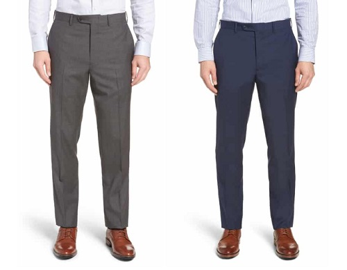 J.W.N. Made in Italy Flat Front Trousers