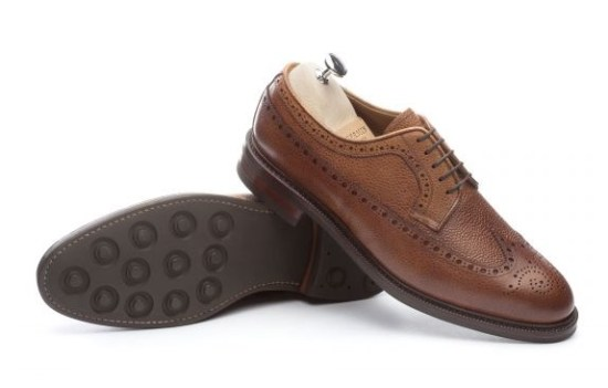 Meermin Chestnut Country Calf Long Wing Bluchers