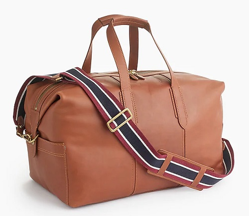 Oar Stripe Leather Weekender