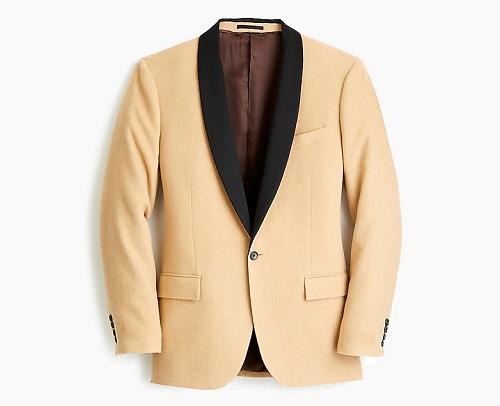 Ludlow Suit Dinner Jacket in Camel Hair