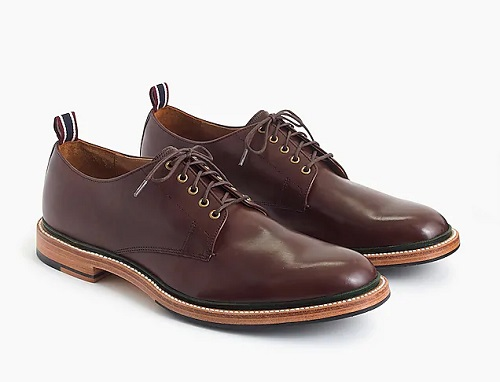 Oar Stripe Italian Leather Derbys