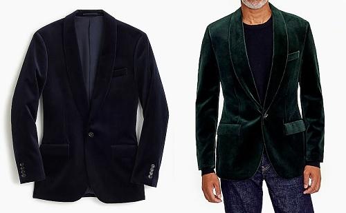 Ludlow Shawl-Collar Velvet Blazer