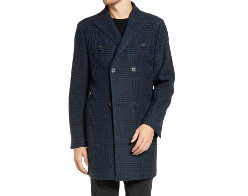 1901 Jackson Extra Trim Fit Wool Overcoat