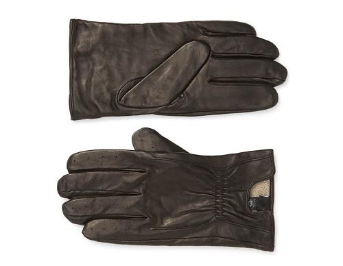 Nordstrom Cashmere Lined Perforated Deerskin Gloves