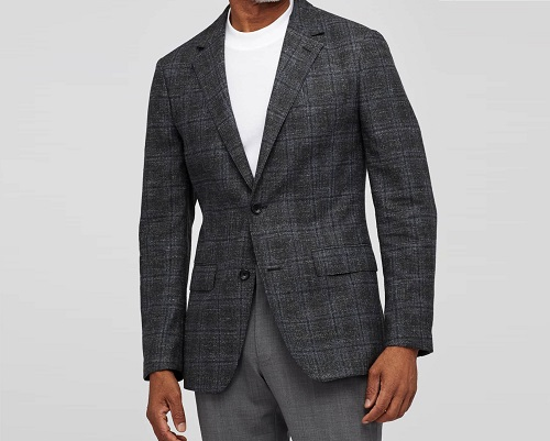 Bonobos Plaid Wool Unconstructed Sportcoat