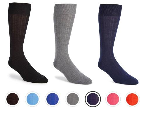 Calibrate Solid Merino Wool Blend Socks