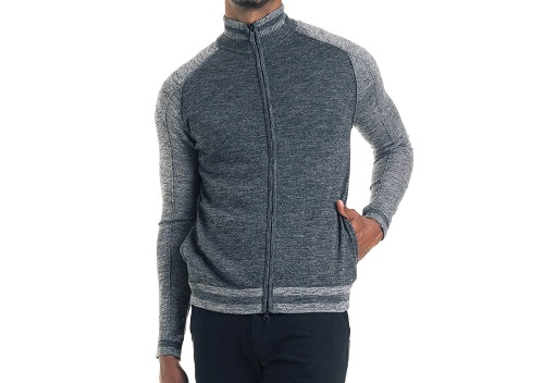 Good Man Brand Slim Fit Merino Wool Track Jacket