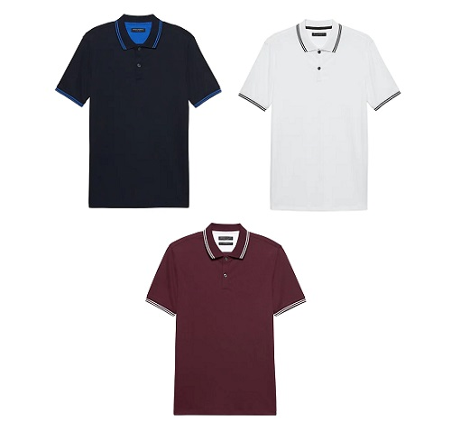 Banana Republic Tipped Luxe Touch Polos