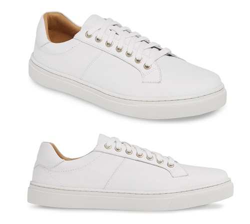 1901 Sloan White Leather Sneakers