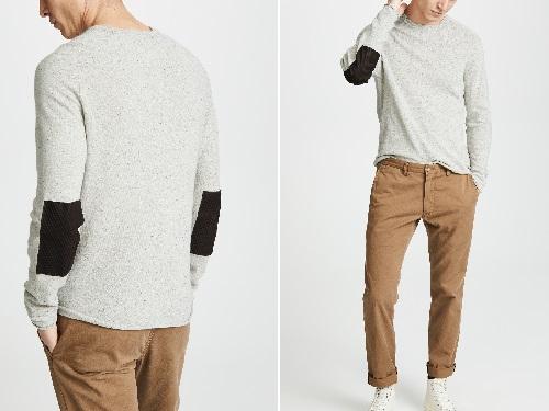 Billy Reid Heirloom Saddle Crew Sweater