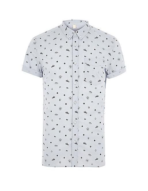 dapper monkey skull print shirt