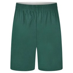 Poly Cotton P.E. Shorts in bottle green