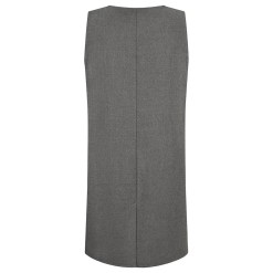 Four Button Pinafore Back Grey