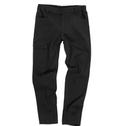 Work-Guard Chino Trousers in black, front view
