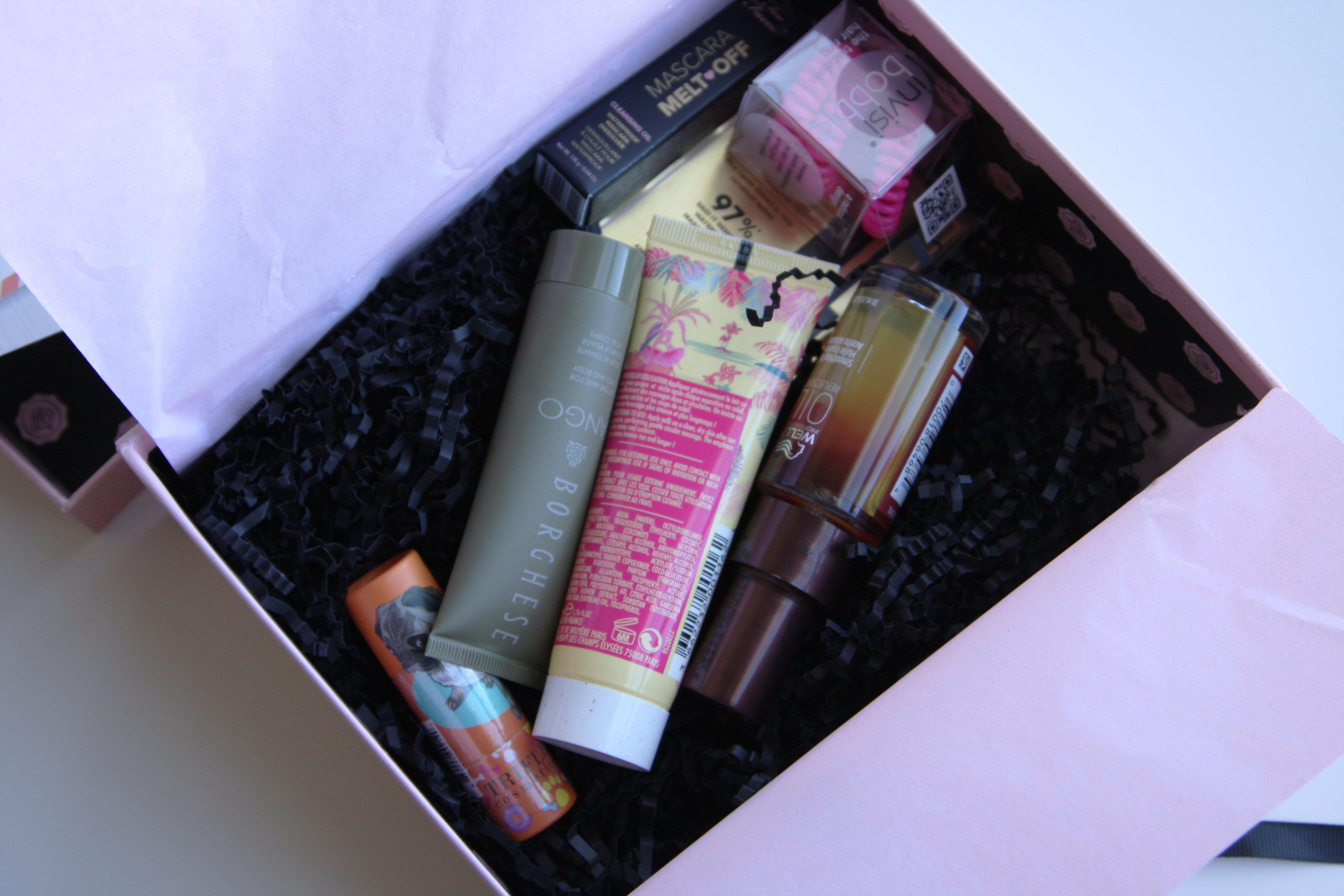 the August GlossyBox contents
