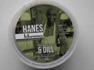 Hanes Hummus roasted garlic & dill lid