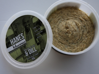 Hanes Hummus roasted garlic & dill open