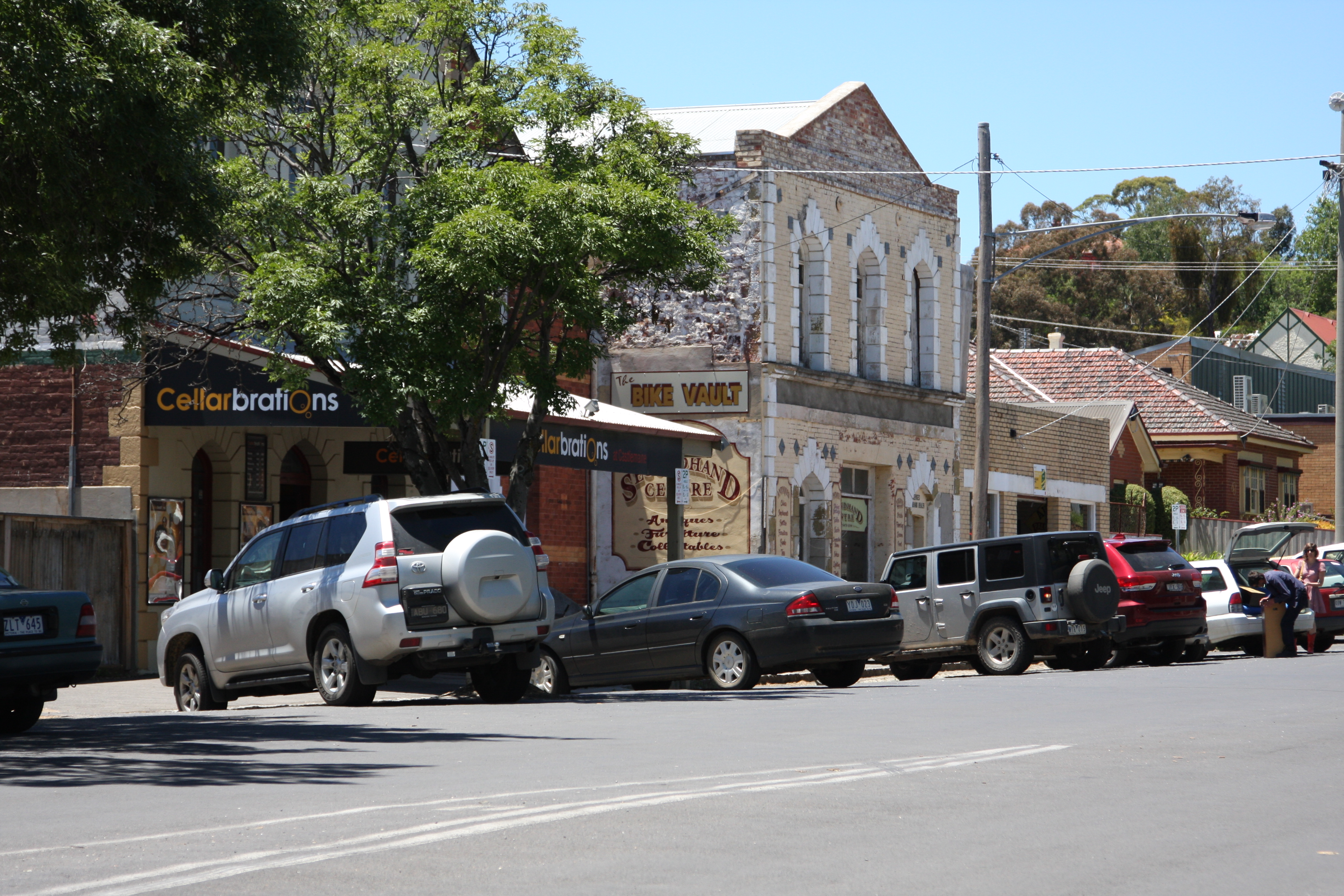 some old buildings in the town of Castlemaine, Australia