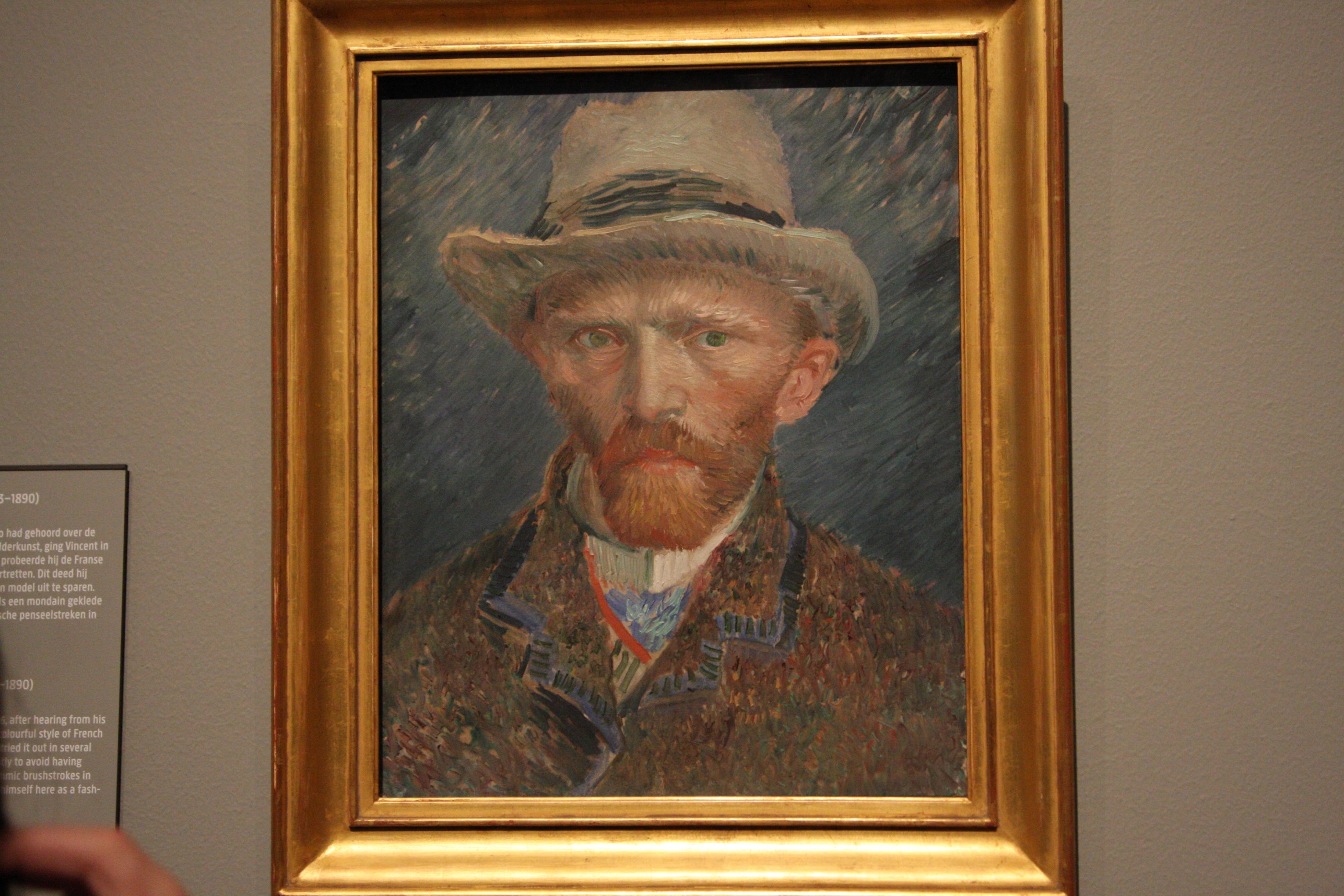 Van Gogh self portrait in the Rijksmuseum in Amsterdam