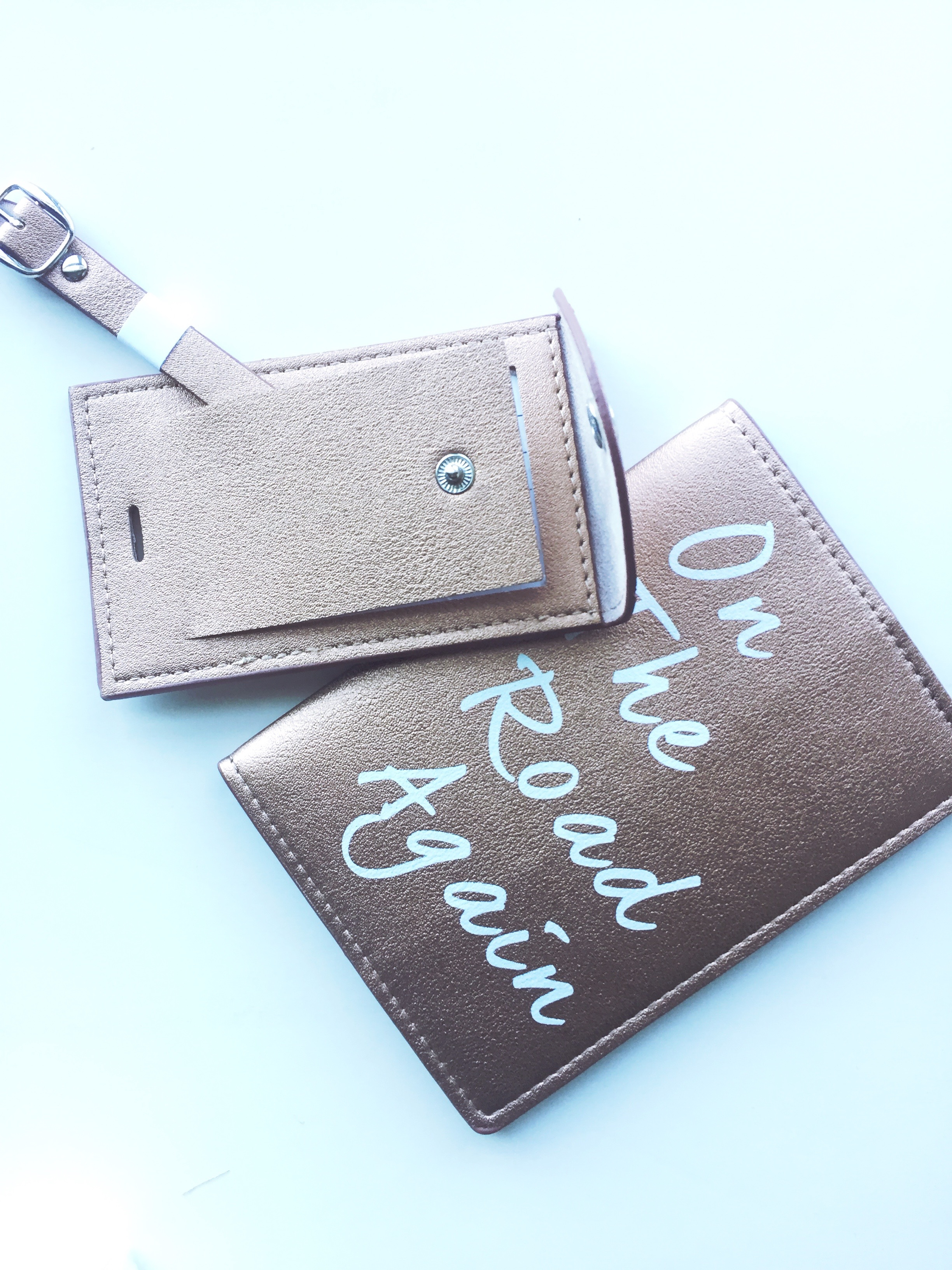 FabFitFun Summer 2017 Understated Leather Passport Holder & Luggage Tag